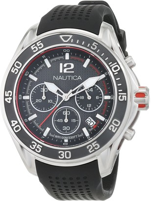 Nautica Men's NMX 1600 Stainless Steel Quartz Watch with Silicone Strap