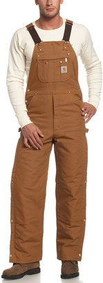 Carhartt Men's Big & Tall Quilt Lined Zip to Thigh Bib Overalls