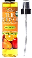 #1 Body & Bath Oil - Fresh Orange, Certified Organic by USDA, Jojoba & Avocado Oil w/ Vitamin E, No Alcohol, Paraben, Artificial Detergents, Color or Synthetic perfumes, US Organic, 5 Fl.oz.