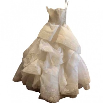 Vera Wang White Lace Dress for Women
