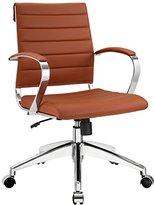 LexMod Jive Ribbed Mid Back Executive Office Chair, Terracotta Vinyl