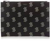 Saint Laurent Dollar-print Leather Pouch
