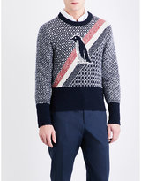 Thom Browne Penguin Wool And Mohair-blend Jumper