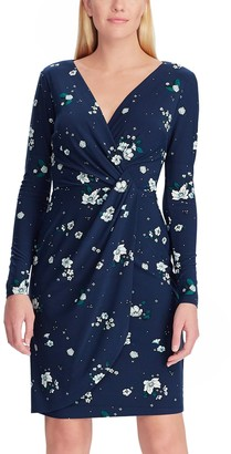 Chaps Women's Floral Wrap Dress