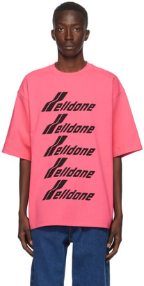 we11done Pink Front Logo T-Shirt