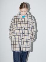 Molliolli Joy Stripe Eco Fur Shirt Jacket 2 color
