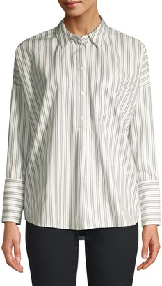 Joie Selinde Striped Cotton Blouse