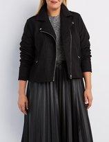 Charlotte Russe Plus Size Wool Blend Moto Jacket