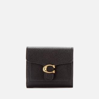 Coach Women's Polished Pebble Tabby Small Wallet - Black