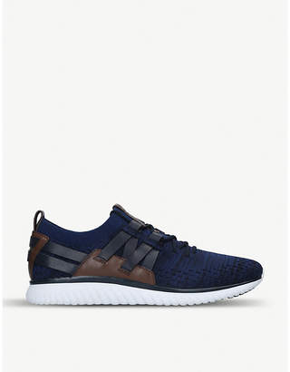Cole Haan Grand Motion Runner marl-knit and leather trainers