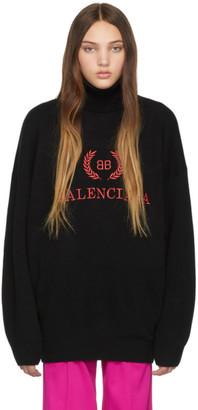Balenciaga Black BB Turtleneck