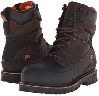 Timberland 8 Rigmaster XT Steel Safety Toe Waterproof (Brown Tumbled Leather) Men's Work Boots