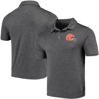 Majestic Men's Heathered Charcoal Cleveland Browns Iconic Positive Production Polo