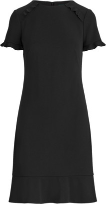 Ralph Lauren Crepe Short-Sleeve Dress