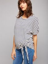 A Pea in the Pod Web Only Monrow Side Tie Maternity Top
