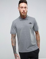 The North Face Pique Polo In Mid Grey Heather