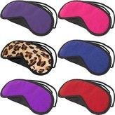 OptiSex Satin Love Velvet Double Strap Blindfold Eye Mask ASSORTED COLORS (Quantity of 1)