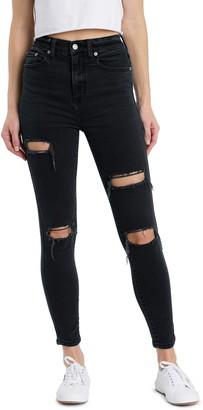 DAZE Money Maker Ripped High Waist Skinny Jeans