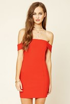 Forever 21 FOREVER 21+ Off-The-Shoulder Bodycon Dress