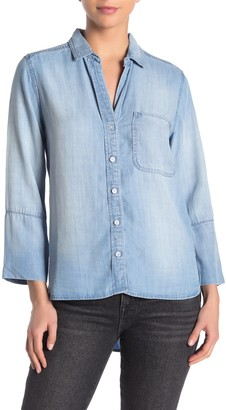 Cloth & Stone High/Low Chambray Button Down Shirt