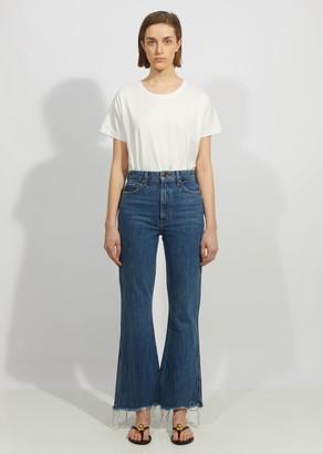 KHAITE Gabbie Crop Bell Bottom Jean