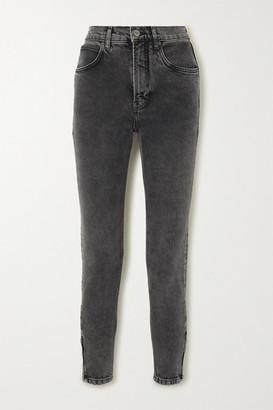 Reformation Net Sustain High-rise Slim-leg Jeans - Gray