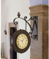 AMERICAN HOME Double-Sided Suspended Wall Clock