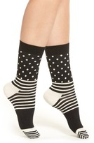 Happy Socks Women's Stripes & Dots Crew Socks