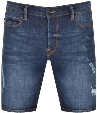 Luke 1977 Nimed Denim Shorts Blue