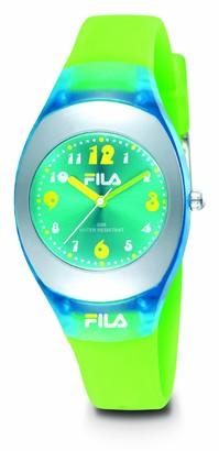 Fila Hi-Glow Watch with Soft PU Green Strap