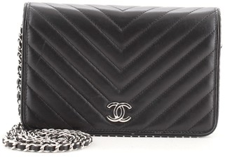 Chanel Wallet on Chain Chevron Lambskin with Studded Detail