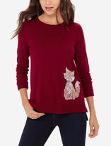 The Limited Sequin Fox Sweater