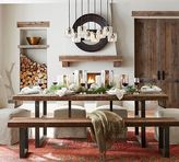 Pottery Barn Griffin Reclaimed Wood Fixed Dining Table