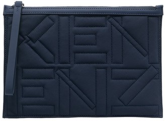Kenzo Logo-Embroidered Quilted Pouch