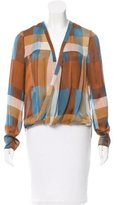 Derek Lam 10 Crosby Printed Silk Wrap Top w/ Tags
