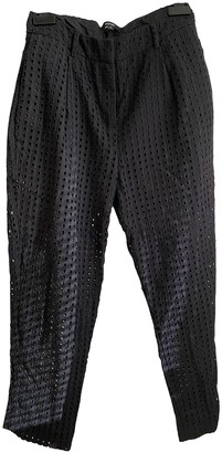Non Signé / Unsigned Non Signe / Unsigned Black Cloth Trousers for Women