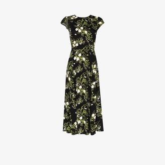 Reformation Gavin floral print slit dress