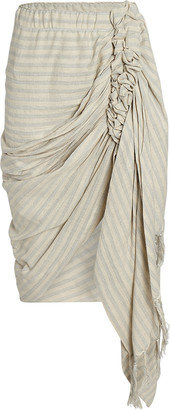 Just BEE Queen Tulum Ruched High-Low Skirt