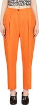 Thierry Mugler Orange Low Waist Oversize Trousers