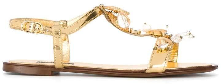Dolce & Gabbana seashell sandals