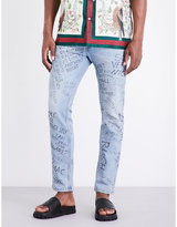 Gucci Scribble Slim-fit Tapered Jeans