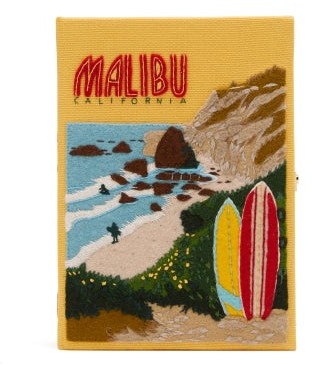 Olympia Le-Tan Malibu Embroidered Box Clutch - Yellow Multi