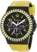 Freelook Men's HA9033CHB-3 Yellow Leather Band and Yellow Swarovski Bezel Watch