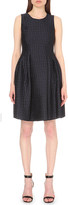 Armani Collezioni A-line jacquard dress