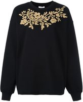 P.A.R.O.S.H. gold-tone embroidery sweatshirt