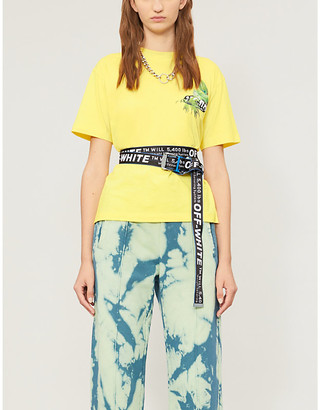 Off-White Graphic-print stretch-cotton-jersey T-shirt