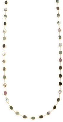 Ippolita Polished Rock Candy Confetti 18K Yellow Gold & Black Shell Long Necklace