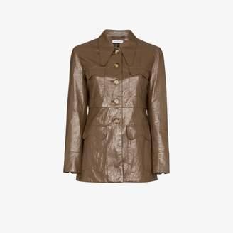 REJINA PYO faux leather single-breasted blazer