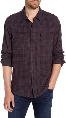 Paige Everett Regular Fit Plaid Button-Up Flannel Shirt