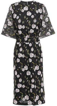 Giambattista Valli Belted Layered Embroidered Cotton-blend Lace Dress